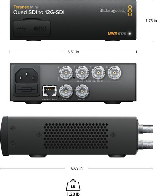 Teranex Mini Quad SDI to 12G-SDI